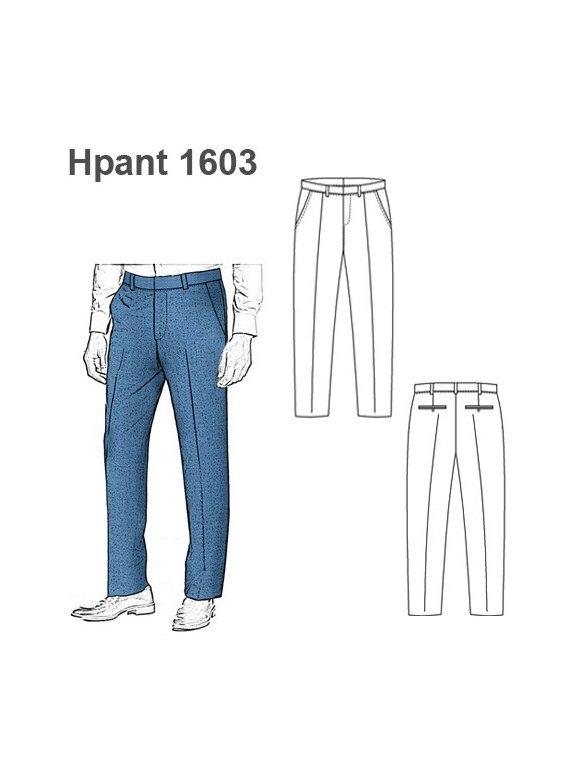 Molde Pantalon Pitillo Hombre 1101