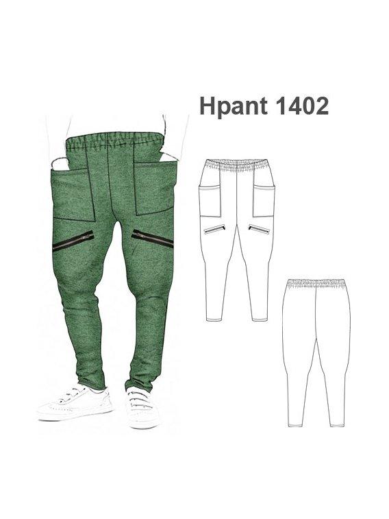 Molde Pantalon Harem Hombre 1402