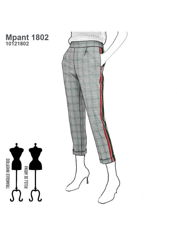 Molde Pantalon Buzo Urbano Mujer 1802