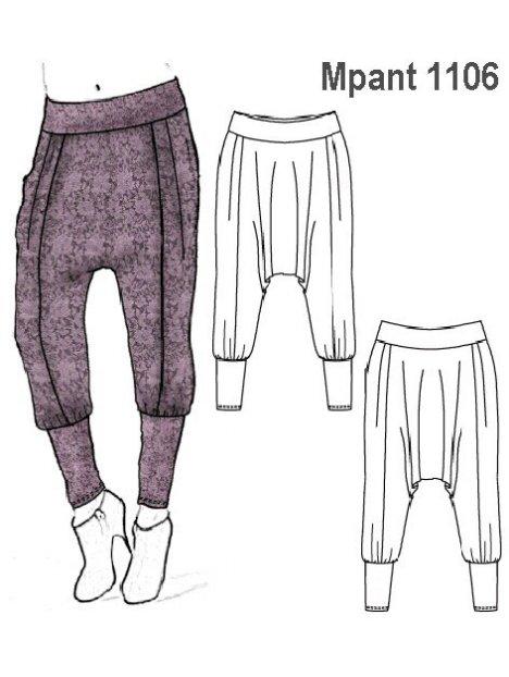Molde Pantalon Harem Mujer 1106