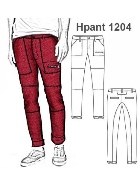 Molde Pantalon Pitillo Cortes Hombre 1204