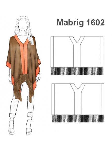 ABRIGO CAPA PONCHO MUJER 1602
