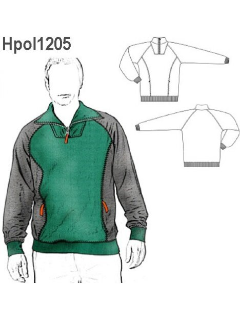 POLERON CORTES HOMBRE 1205