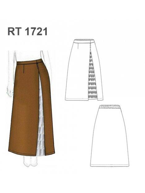 FALDA HUASA ELEGANTE RT 1721