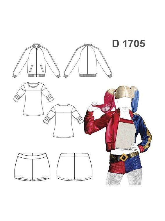DISFRAZ VILLANA COMICS 1705