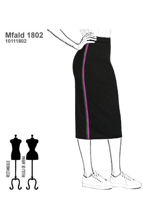 FALDA TUBO MUJER 1802